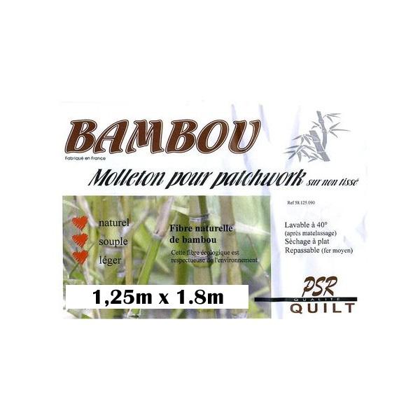 molleton bambou naturel