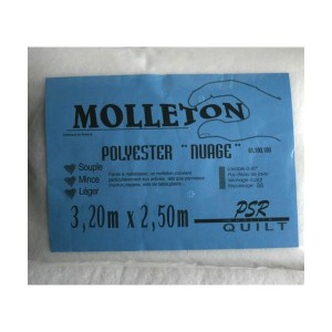 Molleton polyester nuage grande taille