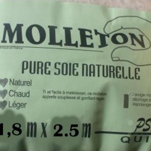 Molleton pure soie grande dimension