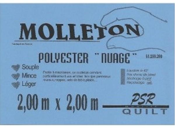 molleton nuage polyester PSR quilt