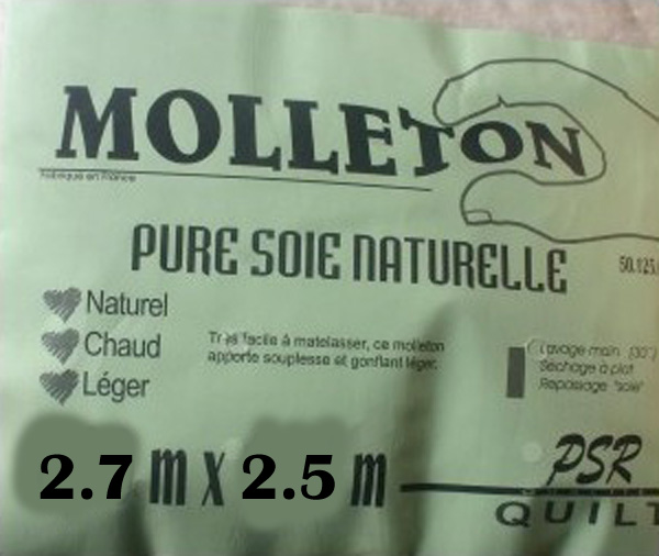 Taille XXL molleotn pure soie